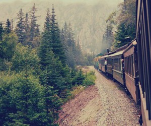 train, travel, and travelling image
