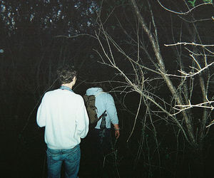 boy, indie, and forest image