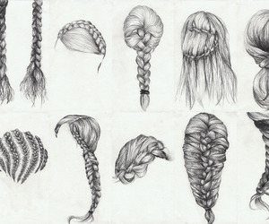 draw, hair, and hairstyle image