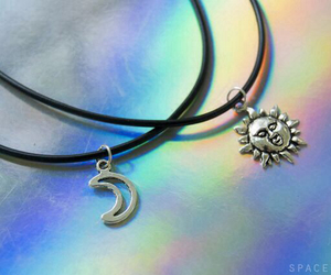 grunge, jewelry, and moon image