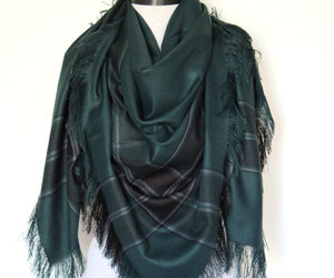 green, scarves, and blanket scarf image