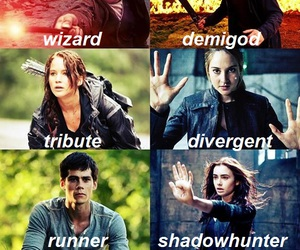 percy jackson, divergent, and the maze runner image