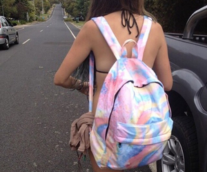 girl, backpack, and tumblr image