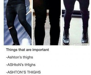 ashton irwin, thighs, and 5 seconds of summer image