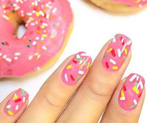 nails, donuts, and pink image