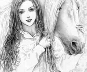 dibujos, horses, and drawings image