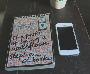 starbucks, book, and iphone image