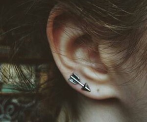 arrow, earring, and indie image