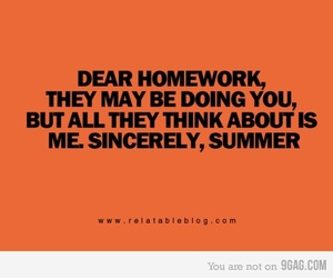 summer, funny, and homework image