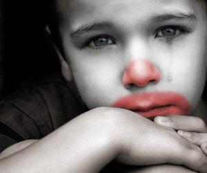 sad, cry, and clown image