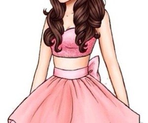ariana grande, drawing, and dress image