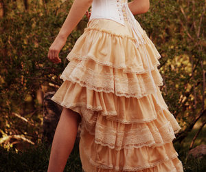 dress, vintage, and corset image