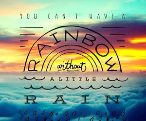 rainbow, rain, and quote image