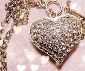 heart, diamond, and necklace image
