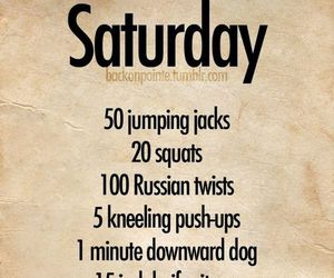 saturday and workout image