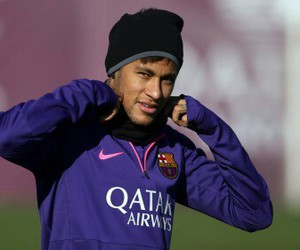 training, fcbarcelona, and neymar image