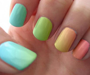nails, blue, and colorful image