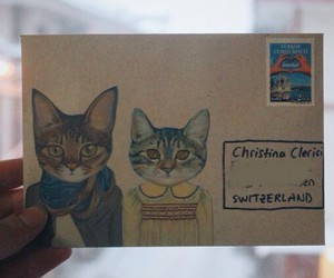 cat, envelope, and Letter image