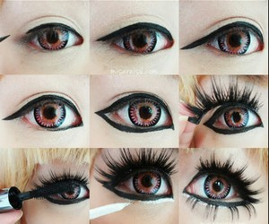 make, doll eyes, and tutorial image