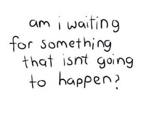 quote, waiting, and sad image