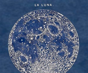 moon, luna, and blue image