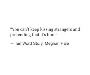 him, kissing, and strangers image