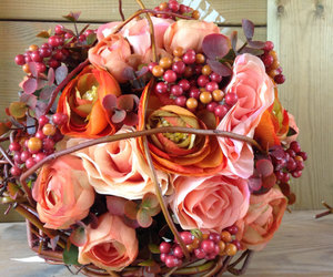 silk flowers, wedding bouquet, and wedding flowers image