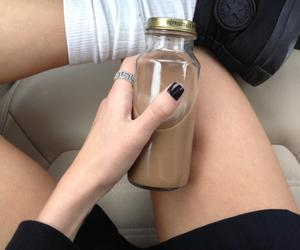 converse, drink, and girl image
