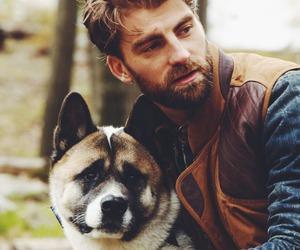 dog, beard, and man image
