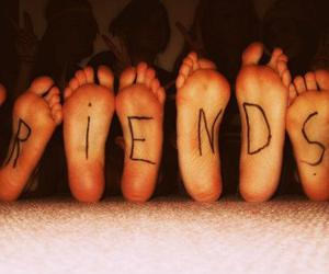 best friends, feet, and perfect image