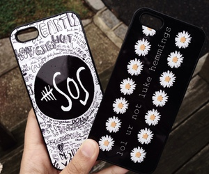 5sos, black, and iphone image