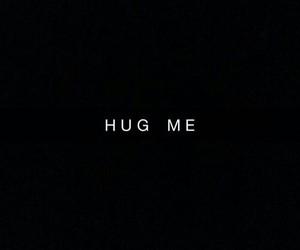hug, black, and quotes image