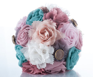 silk flowers, wedding bouquet, and bridal flowers image