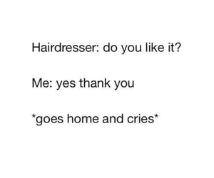 cry, funny, and hair image
