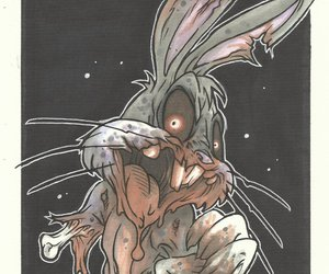 bugs bunny, cartoons, and zombie image