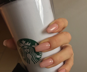 coffee, nails, and starbucks image