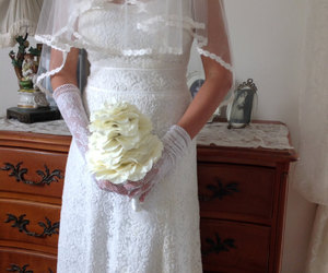 wedding flowers, silk wedding flowers, and rustic bouquet image