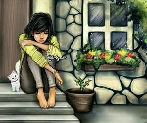 girly_m, cat, and sad image