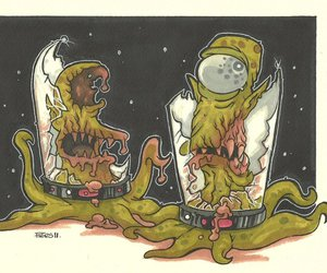 alien, parody, and the simpsons image