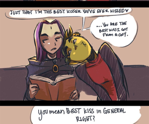 raven, teen titans, and beast boy image