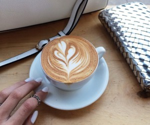 coffee, nails, and tumblr image