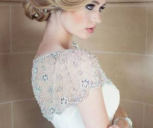 beautiful, bride, and hair image