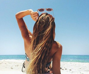 beach, girl, and pic image