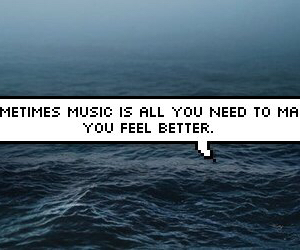 music, quote, and sea image