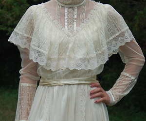 dress, gown, and ruffles image