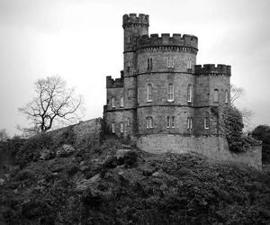 castle, black and white, and photography image