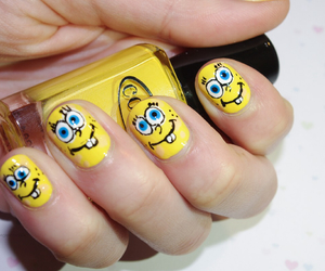 art, nails, and spongebob image