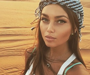 girl, beautiful, and desert image