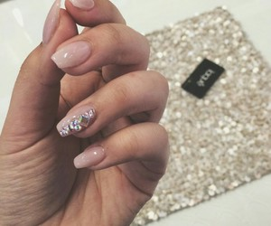 glitters, pink, and manicure image