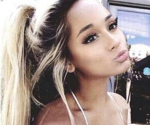 fashion, blond long hair, and ariana grande image